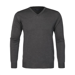 Berkeley | Wilton Cashwool V-Neck | Herrestrik Dark Grey