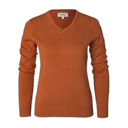Berkeley | Brockton V-Neck | Damestrik Orange