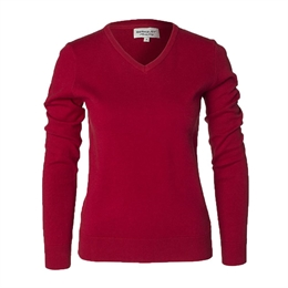 Berkeley | Brockton V-Neck | Damestrik Red