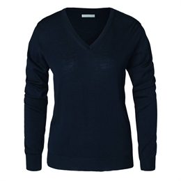 Berkeley | Wilton Cashwool V-Neck | Damestrik Navy