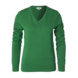 Berkeley | Brockton V-Neck | Damestrik Green