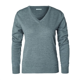 Berkeley | Wilton Cashwool V-Neck | Damestrik Grey