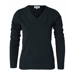 Berkeley | Brockton V-Neck | Damestrik Dark Grey