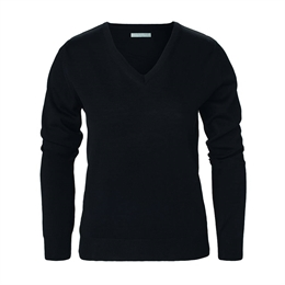 Berkeley | Wilton Cashwool V-Neck | Damestrik Black