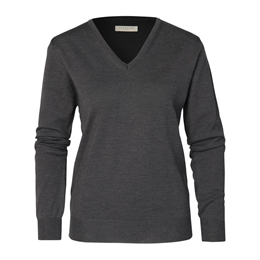 Berkeley | Wilton V-Neck | Damestrik Dark Grey