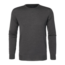 Berkeley | Wilton Cashwool Crewneck | Herrestrik Dark Grey