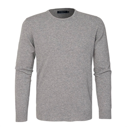 Berkeley | Sutton Cashmere Crew Neck | Strik Light Grey