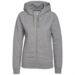 Berkeley | Alfie Zip Hood | Dame Sweater Grey Melangé