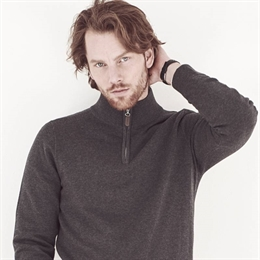 Berkeley | Brockton Half Zip | Herre Sweater Dark Grey