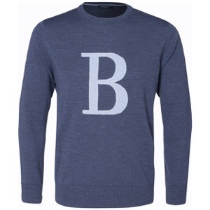 Berkeley | B Cashwool Crew Neck | Herrestrik Denim Blue
