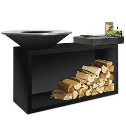 OFYR Grill Island Black 85 Ceramic Dark Grey