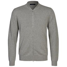 Berkeley | Brockton Full Zip | Unisex Strik Lys Grå