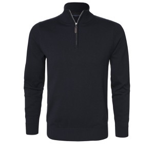Berkeley | Brockton Half Zip | Herre Sweater Navy