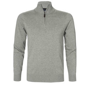 Berkeley | Brockton Half Zip | Herre Sweater Grey