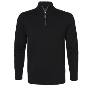 Berkeley | Brockton Half Zip | Herre Sweater Black