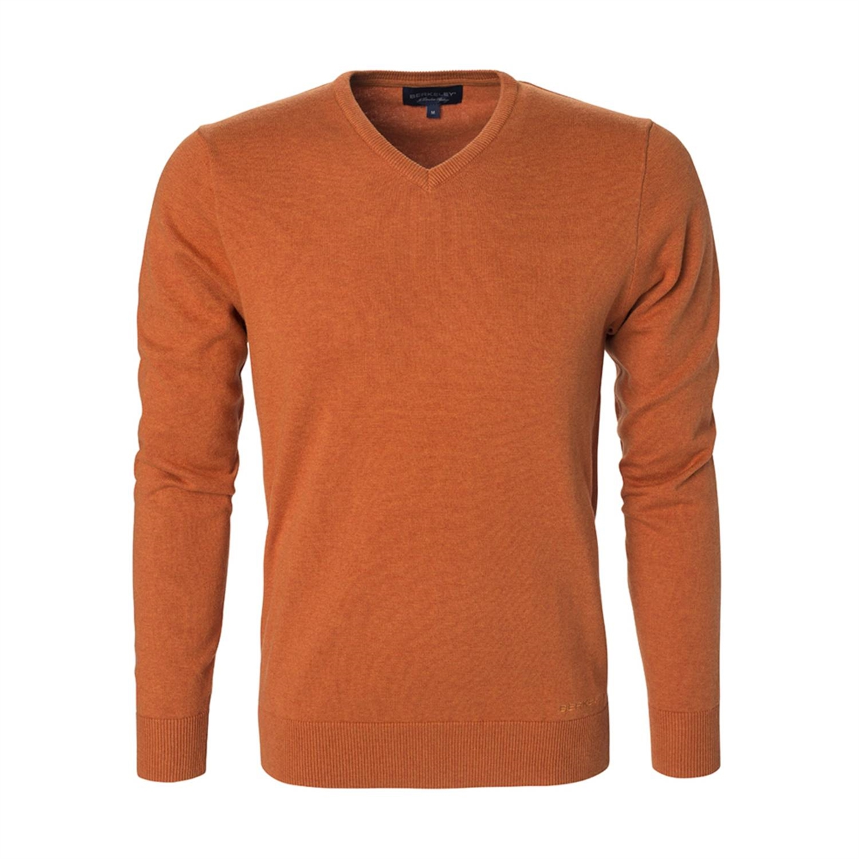 Berkeley | Brockton V-Neck | Herrestrik Orange