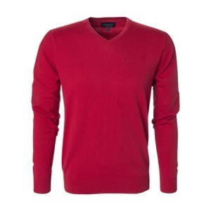 Berkeley | Brockton V-Neck | Herrestrik Red