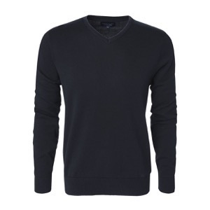 Berkeley | Brockton V-Neck | Herrestrik <span>Navy</span>