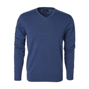 Berkeley | Brockton V-Neck | Herrestrik Blue