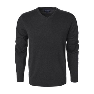 Berkeley | Brockton V-Neck | Herrestrik Dark Grey
