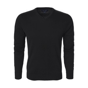 Berkeley | Brockton V-Neck | Herrestrik <span>Black</span>