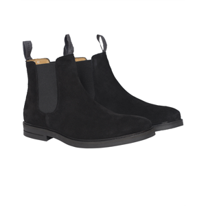 Berkeley | Suede Chelsea Boot | Herrestøvle <span>Sort</span>