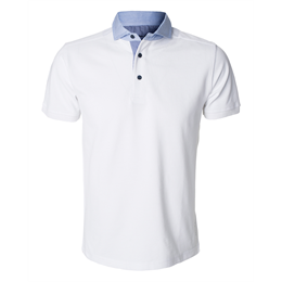 Berkeley | Hampton | Herre Polo <span>White</span>