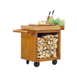 OFYR Mise en Place Table Corten 65 PRO  Teak Wood