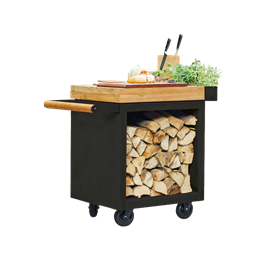 OFYR Mise en Place Table Black 65 PRO Teak Wood