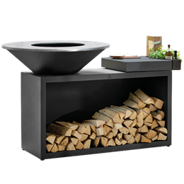 OFYR Grill Island Black 100 Ceramic Dark Grey