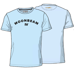 Moonbeam Polo T-shirt Lyseblå