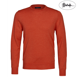 Berkeley | Wilton Cashwool Crewneck | Herrestrik Orange