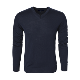 Berkeley | Wilton Cashwool V-Neck | Herrestrik Navy
