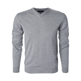 Berkeley | Wilton Cashwool V-Neck | Herrestrik Grey