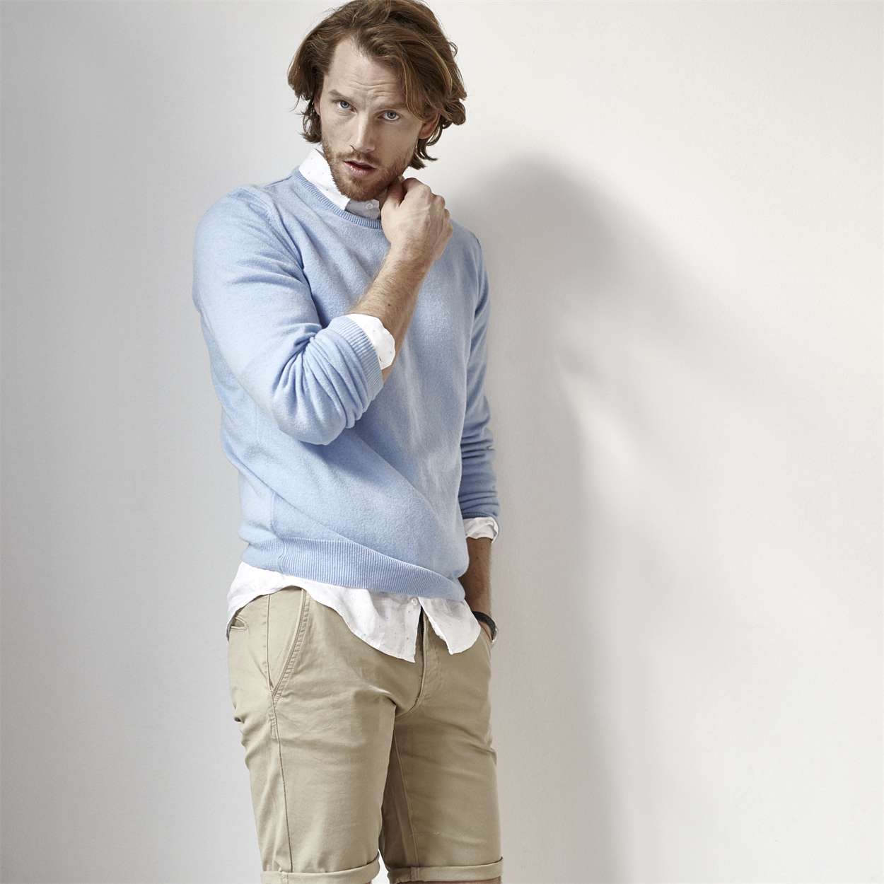 Berkeley | Sutton Cashmere Crew Neck | Strik Light Blue