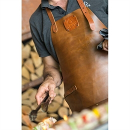 OFYR Leather Apron Brown