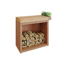 OFYR Butcher Block Storage 90 Corten Teak Wood