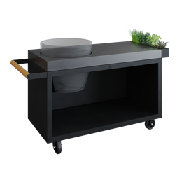 OFYR Kamado Table Black PRO Concrete BGE