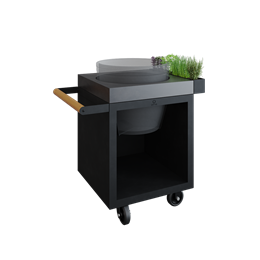 OFYR Kamado Table 65 Black PRO Concrete BGE