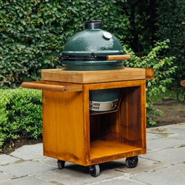 OFYR Kamado Table 65 Corten PRO Teak Wood BGE